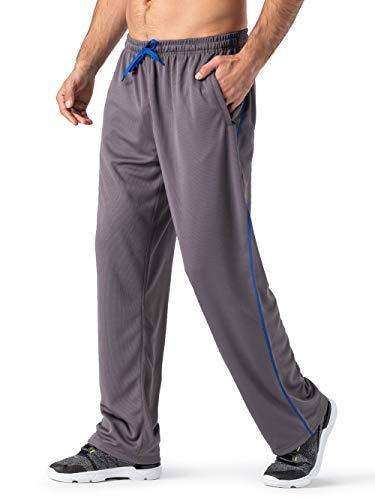 MAGNIVIT Men's Pocketed Open-Bottom Sweatpant Performance Active Sweatpant Loose-Fit -
