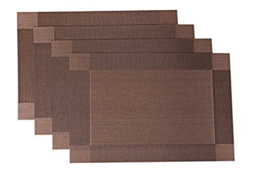 Placemats PVC Dining Room Placemats for Table Heat Insulation Kitchen Set of 4