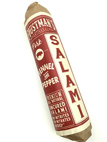 Foustman's Salami (Fennel & Pepper Pork) Artisanal, Nitrate-Free, Naturally Cured - Cured Pork