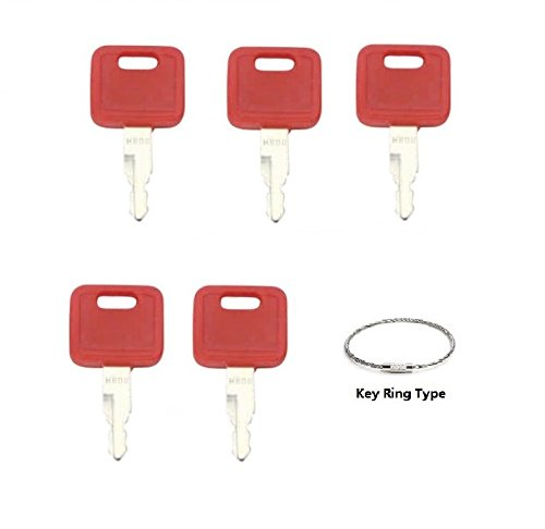 John Deere Key - Ignition key 5 keys for John Deere, Fiat, Case, New Holland, Hitachi H800R