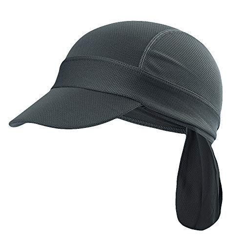 Maoko Skull Caps & Sweat Wicking Cooling Beanie with Brim for Men and Women Grey