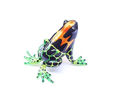 Lampwork COLLECTIBLE MINIATURE HAND BLOWN Art GLASS New Fancy Magic Frog FIGURINE