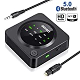 Best Bluetooth Audio Receiver For Headphones - Bluetooth 5.0 Transmitter Receiver, BOIROS 2 in 1 Review