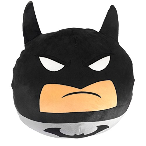 The Northwest Company Batman, Grey Detective 3D Ultra Stretch Cloud Pillow, 11'