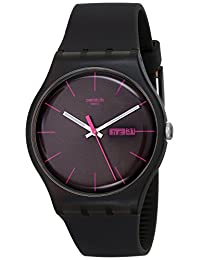 Swatch Men's SUOC700 Quartz Black Dial Plastic Measures Seconds Watch