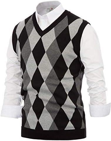 PAUL JONES Mens Lightweight V Neck Sweater Pullovers Vest Waistcoat L Dark Grey