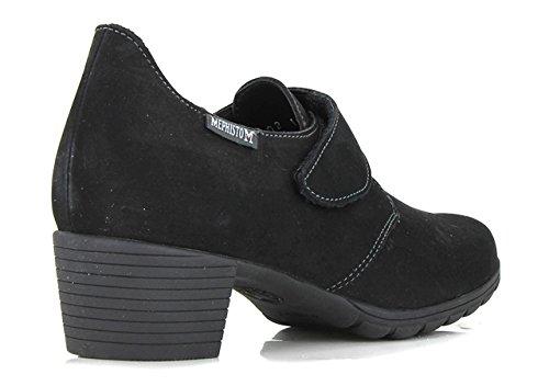 Vestir Mujer Vuelta de Zapatos Mephisto de Negro Piel fwqgZfax