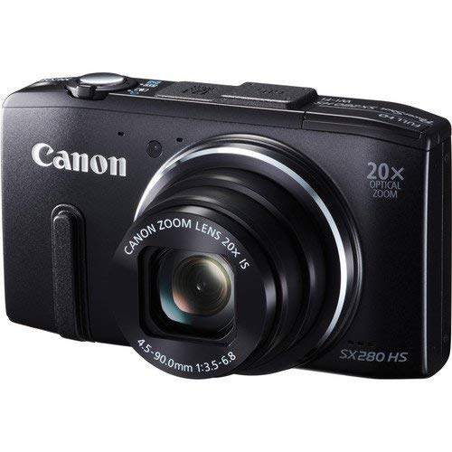 Canon PowerShot SX280 HS Digital Camera (Black) 8224B001 Bundle with Carrying Case + More