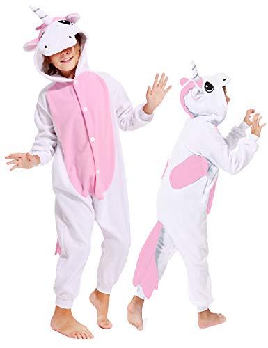 Unisex Kids Children Unicorn Onesies Cosplay Animals Christmas Pajamas Costume Sleepwear