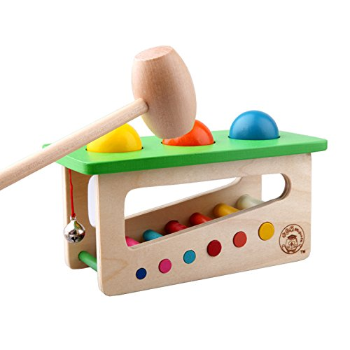 Children Baby Wood Sound Knock Ball Percussion Punch and Drop Instruments Pound Pounding and Roll Bench