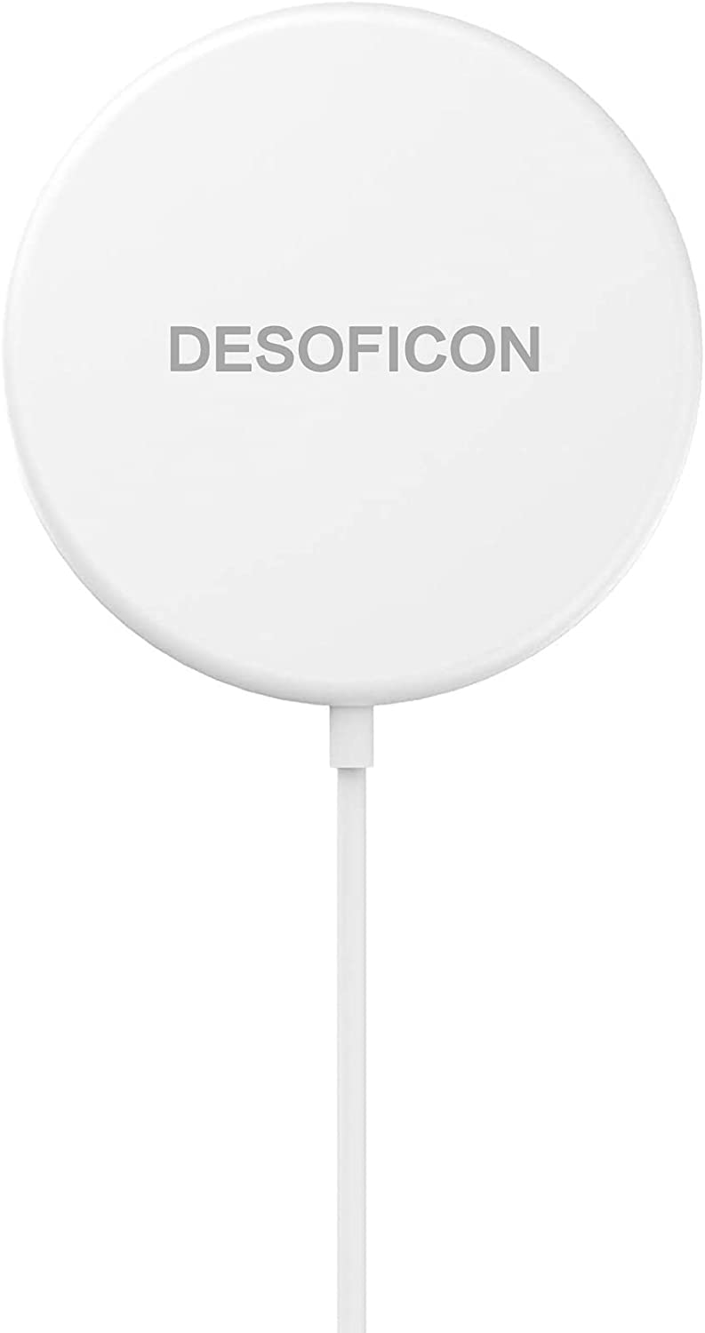 DESOFICON Magnetic Wireless Charger for iPhone 12, 15W Apple MFi Certified iPhone Wireless Charger Fast Charging Pad Compatible with iPhone 12/12 Pro/12 Mini/12 Pro Max/AirPods Pro, iPhone 8 and Later