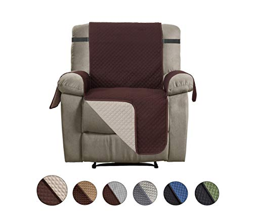 Large Leather Sofa - CALA Recliner Slipcovers, Reversible Couch Slipcover Furniture Protector,Cover Perfect for Pets and Kids,Machine Washable