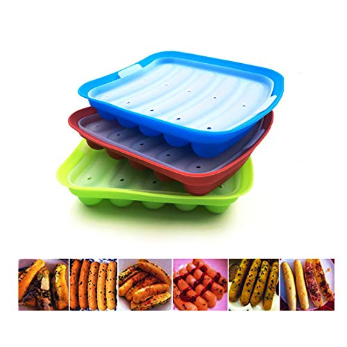 - Bozoa Baby Food Mold Sausage Mold Hot Dogs Mold for Making Sausages Chocolate Candy Bread Muffin Food-Grade Silicone FDA Approved BPA-Free(1 PACK)