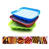 Bozoa Baby Food Mold Sausage Mold Hot Dogs Mold Making Sausages Chocolate Candy Bread Muffin Food-Grade Silicone FDA Approved BPA-Free(1 Pack)