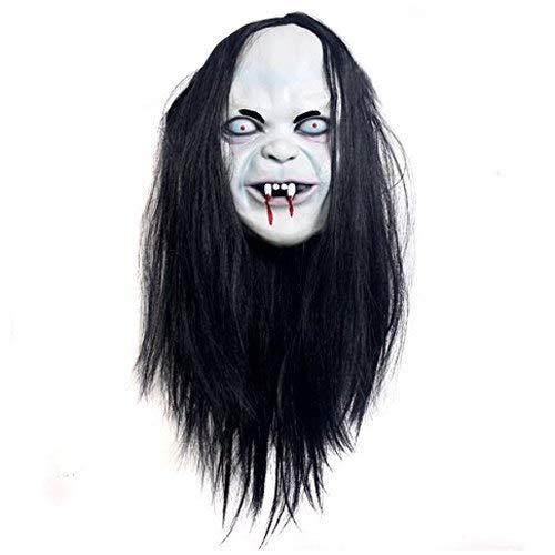 Antenna Peugeot 206 - Sadako Mask Halloween Stadium Joke Party Film Terror Protagonist Apparel Artificial Hair And Rubber - Clown Face Jason Hacker Funny Halloween Horror Light Costume Mask -