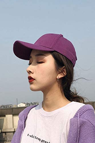 Khaki Purple hat Cap Fashion Personality Solid Color Hole Cap Men Man Women Girls Couple Lover Casual Base Tide