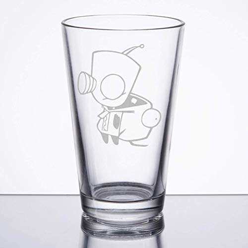 Invader Zim - Gir Costume - Etched Pint Glass -