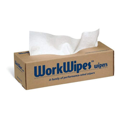 New Pig WorkWipes Series 60 Wipers, Heavy-Duty Pop-Up Wipers in Dispenser Box, 12
