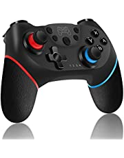 Controller Wireless per Nintendo Switch, RegeMoudal Bluetooth Switch Pro Controller, Switch Joystick Gamepad con Batteria Ricaricabile/Gyro Axis/Dual Vibration/Turbo/Screenshot Funzioni