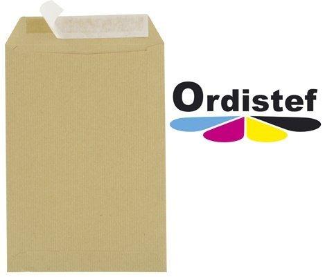 Enveloppes Kraft A4 C4 90g 229x324 sans fenê tres avec bande dé tachable - Paquet De 250 ORDISTEF