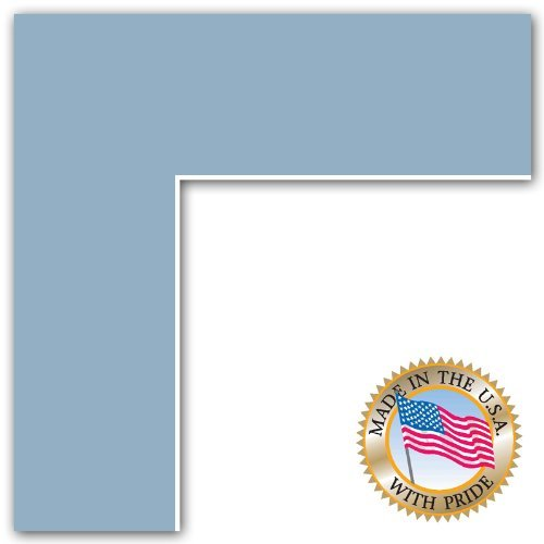 11x14 Aqua Blue / French Blue Custom Mat for Picture Frame with 7x10 opening size (Mat Only, Frame NOT Included)