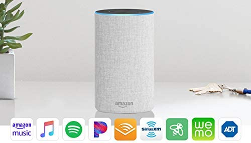 Smart Speaker Amazon Echo 2nd Generation Charcoal Fabric