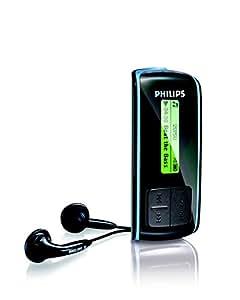 Philips SA4025 Reproductor de MP3 2GB Negro - Reproductor MP3 (Reproductor de MP3, 2 GB, LCD, USB 2.0, Radio FM, Negro)