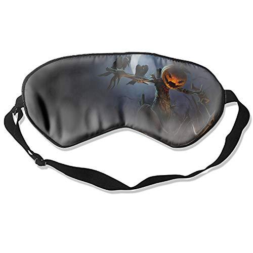 Sleep mask & Blindfold,Cute Sleep mask, Silk Sleep Mask for A Full Night's Sleep,Sleep mask for Women (Halloween Scarecrow) (Latex Mask Scarecrow)