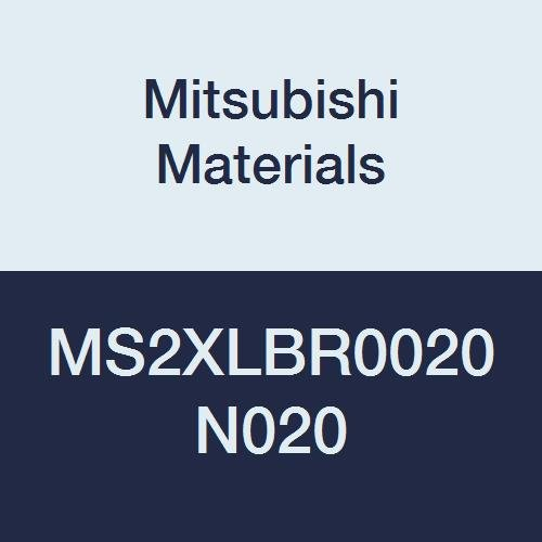 Mitsubishi Materials MS2XLBR0020N020 Series MS2XLB Carbide Mstar Ball Nose End Mill, Short Flute, Long Neck, 2 Flutes, 0.4 mm Cutting Dia, 0.2 mm Corner Radius, 2 mm Neck Length