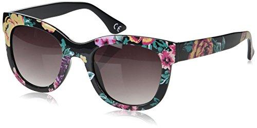 (Foster Grant Women's Sge 71 Blk Sunglasses, Black, 51.4)