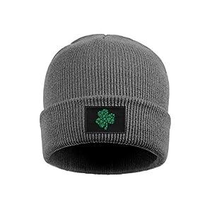 944cc52be1f LJDGOJ Green Shamrock of Shamrocks Unisex Raglan Winter Hat Knit Skull  Beanie Hats Slouchy Hats for Men Women