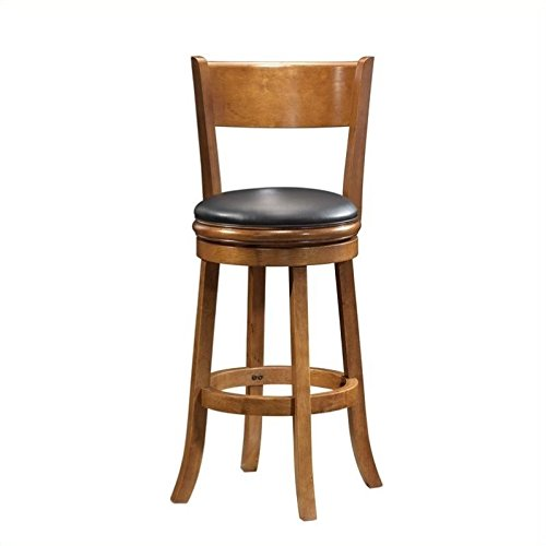 Stool Oak Natural Swivel Pub - Boraam 45129 Palmetto Bar Height Swivel Stool, 29-Inch, Fruitwood