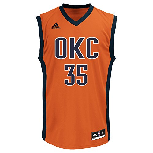 NBA Oklahoma City Thunder Kevin Durant #35 Men's Replica Jersey, X-Large, Red