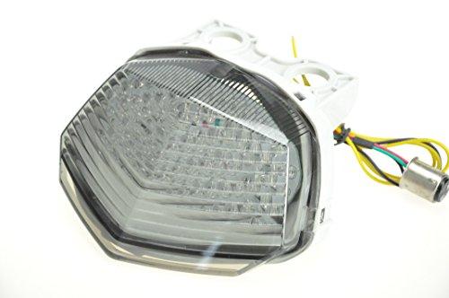 Humo Lente Moto Indicadores LED de faros traseros para lámpara intermitente luz trasera de freno con integrado para 08 - 12 de Kawasaki Ninja 250R EX250: ...