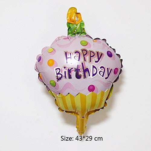 1 piece New big Hamburg ice cream Popcorn cake donut Pizza food balloon birthday party decoration cake shop inflatable ()