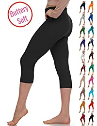 Extra Soft Capri Leggings with High Yoga Waist - 20...