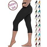 Extra Soft Capri Leggings with High Yoga Waist - 20+ Best Selling Colors - Plus