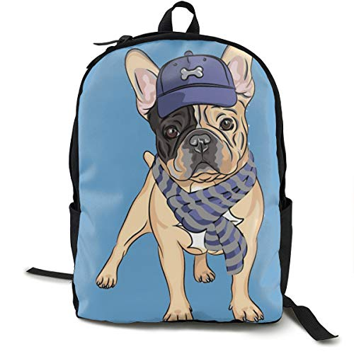 French Bulldog Printed School Backpack Lightweight Travel Rucksack Bag Laptop Backpack]()