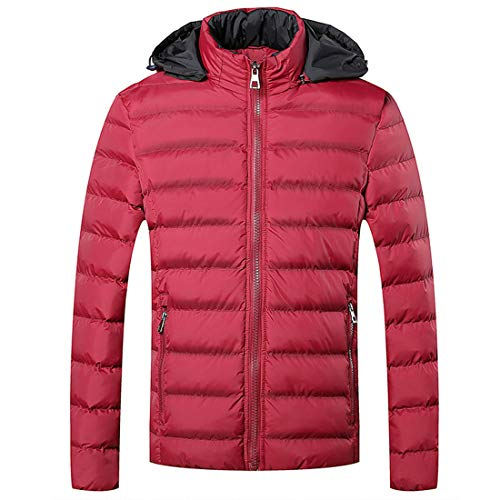 Red Windproof CHAO Cotton Soft Outwear Coat Men's Jacket Outdoor Cotton Teenager Warm Light Ultra Winter Man Thickening Clothing Youth MU HwgqFRF