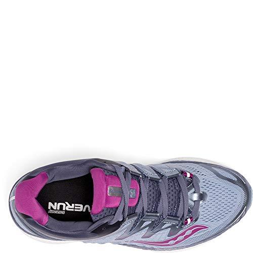 Saucony Women's Triumph ISO 4 Running Shoe, Fog/Grey, 7.5 Medium US
