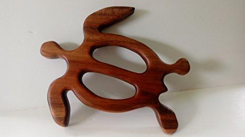 Handmade in Hawaii - Solid Koa Wood Honu (Turtle) - Medium by Volcano Gallery