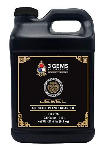 - 3 Gems Plant Nutrients Jewel 2.5 Gallons (320 oz), Bloom Booster, Increase Yields, Higher Terpenes