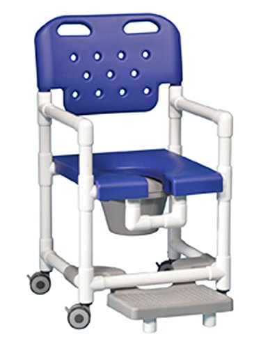 IPU ELT820 P FR Elite Rolling Shower Commode Chair with Footrest for ...