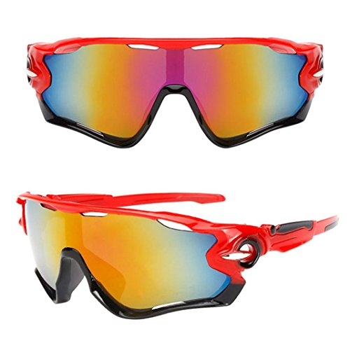 VIASA Outdoor Cycling Glasses Bike Bicycle Sunglasses Polarized Sunglasses Eyewear Riding glasses Outdoor sports glasses Sunglasses 148mm (Multicolor - Cycling Online Glasses