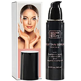 Self Tanner for Face – Anti Aging Face Tanner w/Hyaluronic Acid and Organic Oils, Self Tanners Best Sellers, Facial Sunless Tanning Serum for Natural Sunkissed Glow, Fake Tan Moisturizer 2.0 fl