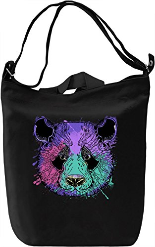 Colourful Panda Borsa Giornaliera Canvas Canvas Day Bag| 100% Premium Cotton Canvas| DTG Printing|
