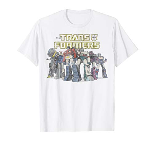 Transformers Robot Group Vintage Graphic T-Shirt