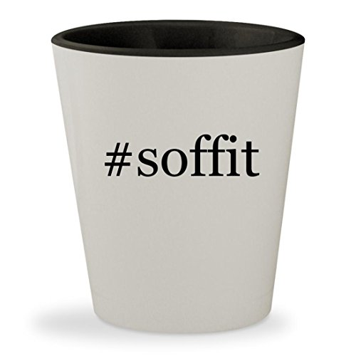 Price comparison product image #soffit - Hashtag White Outer & Black Inner Ceramic 1.5oz Shot Glass