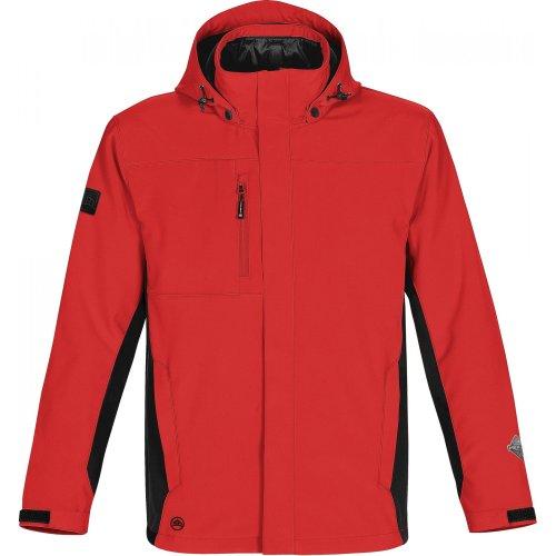 (Stormtech Mens Atmosphere 3-in-1 Performance Jacket (Waterproof & Breathable) (XX-Large (51-54)) (Red/Black))