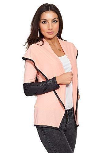 FUTURO Couleur 8080 amp; FASHION Pche Cuir lgance Sensible Cardigan Blazer Femmes Style cologique Veste SHASrwTq